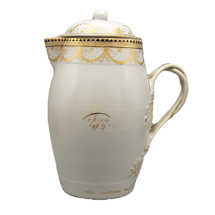 Large 18th C. Chinese Export American Market Covered Cider Jug