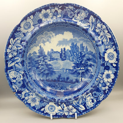 "19th C. Historical Staffordshire Transferware Plate – ""Writtle Lodge Essex"""