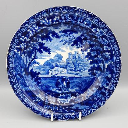 "19th C. Historical Staffordshire Transferware Plate ""Rochester Castle"""