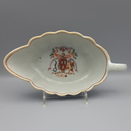 18th C. Chinese Export Armorial Sauce Boat – Robertson of Strowan