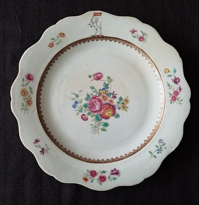 18th Century Chinese Export Armorial Plate - Watson