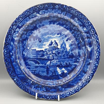 "19th C. Historical Staffordshire Transferware Plate - ""Greenwich"""