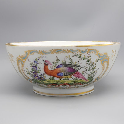 18th C. Chelsea Gold Anchor Bowl – Exotic Birds