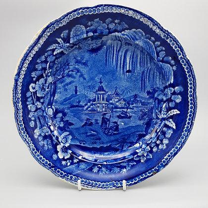 19th C. Staffordshire Transferware Chinoiserie Plate- Enoch Wood