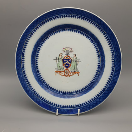 18th Century Chinese Export Armorial Plate – Hope of Craighall