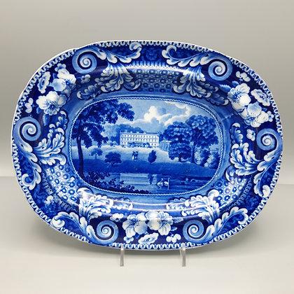 19th C. Historical Staffordshire Transferware Plate – Orielton