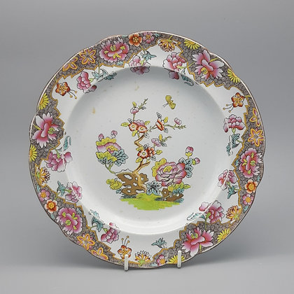"19th C. Copeland & Garrett ""Willis"" Pattern Plate with Spode Mark"
