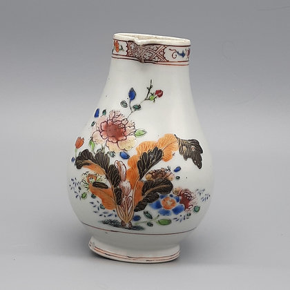 18th Century Chinese Export Famille Rose Pseudo-Tobacco Leaf Creamer