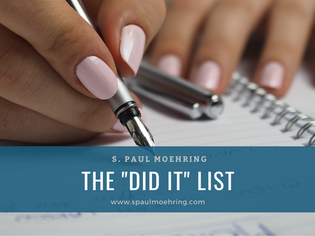 """The """"Did It"""" List"""