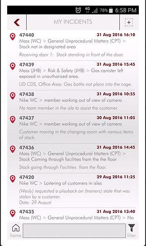 Incident Desk smart phone app