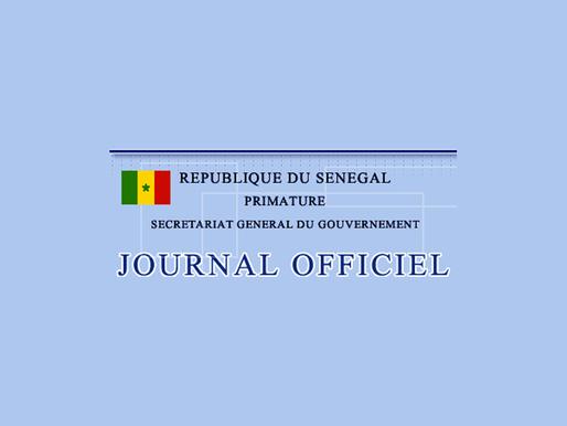 Numéro Spécial Journal Officiel de la République du Sénégal du Jeudi 09 Avril 2020.