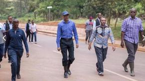 Door to door free distribution of food in Rwanda