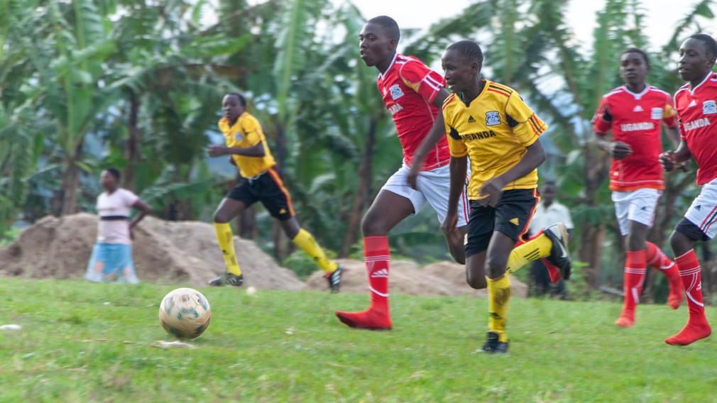 Soccer uniforms for school in Uganda