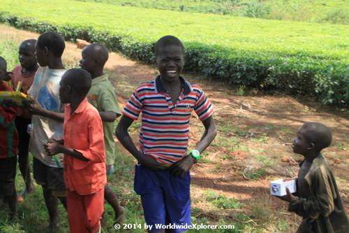 Children in rural Uganda