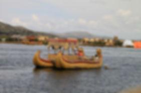 Straw boat - Uros - Lake Titicaca
