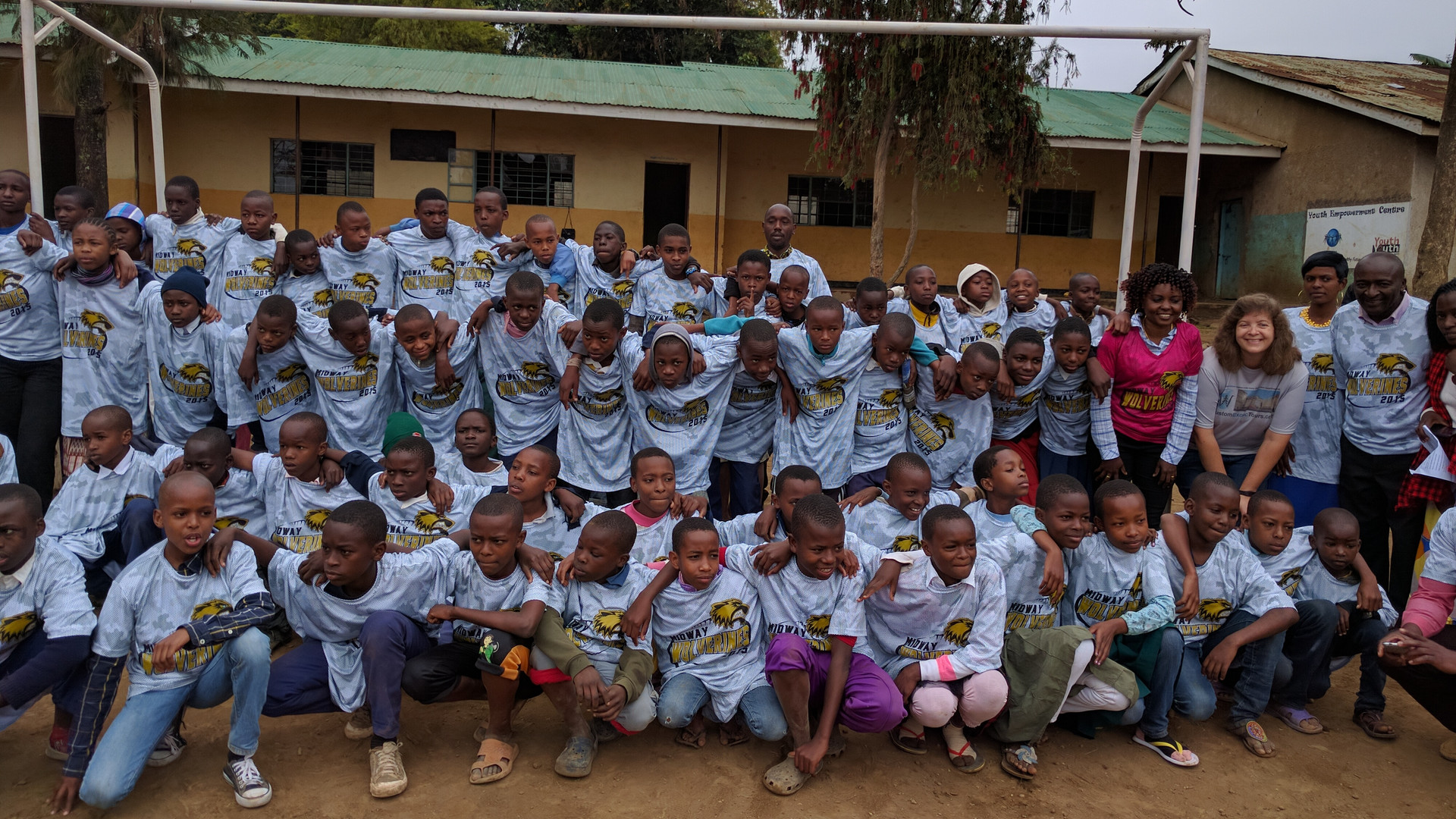 Sports shirts donated in Tanzania school