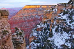Grand Canyon at Sunset with Snow