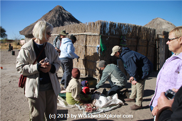Botswana village visit