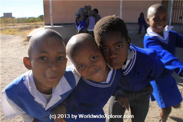 Children in rural Botswana