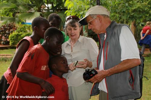 Chilren in rural Uganda