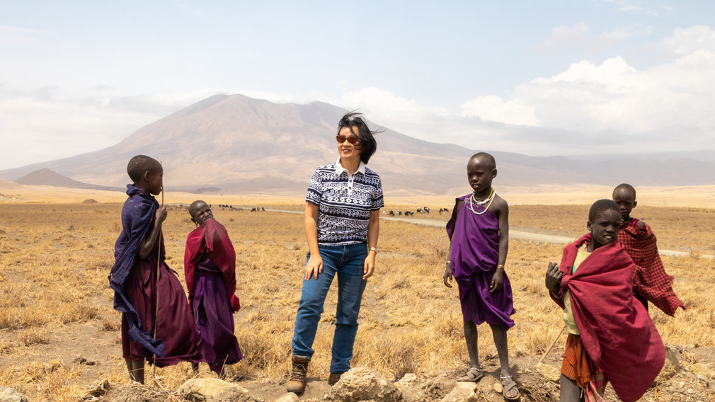 Meeting Maasai children, Tanzania