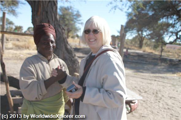 Village visit in Botswana