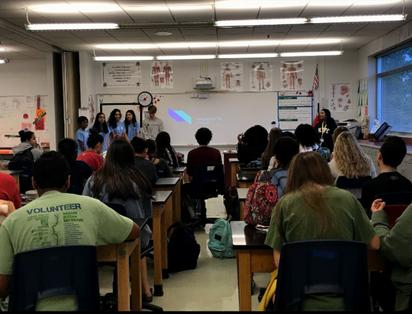 Unchained raising awareness at Alpharetta Highschool