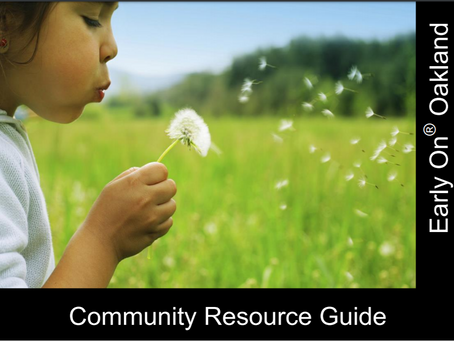 Early On Oakland Community Resource Guide for 2020