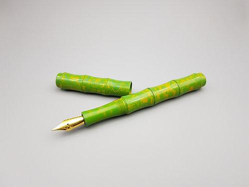 Ranga Bamboo Green Yellow Swirl Premium Ebonite