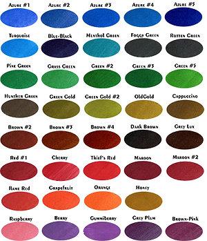 KWZ Standard Ink Sample