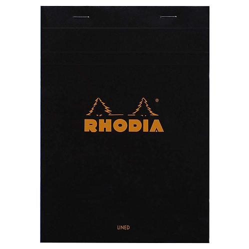 Rhodia Basics Notepad - Black - A5