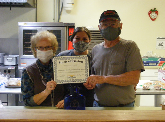 Patty Shockey, Cook, Gloria Moorehead, Site Manager, and Pat Iman, Cook