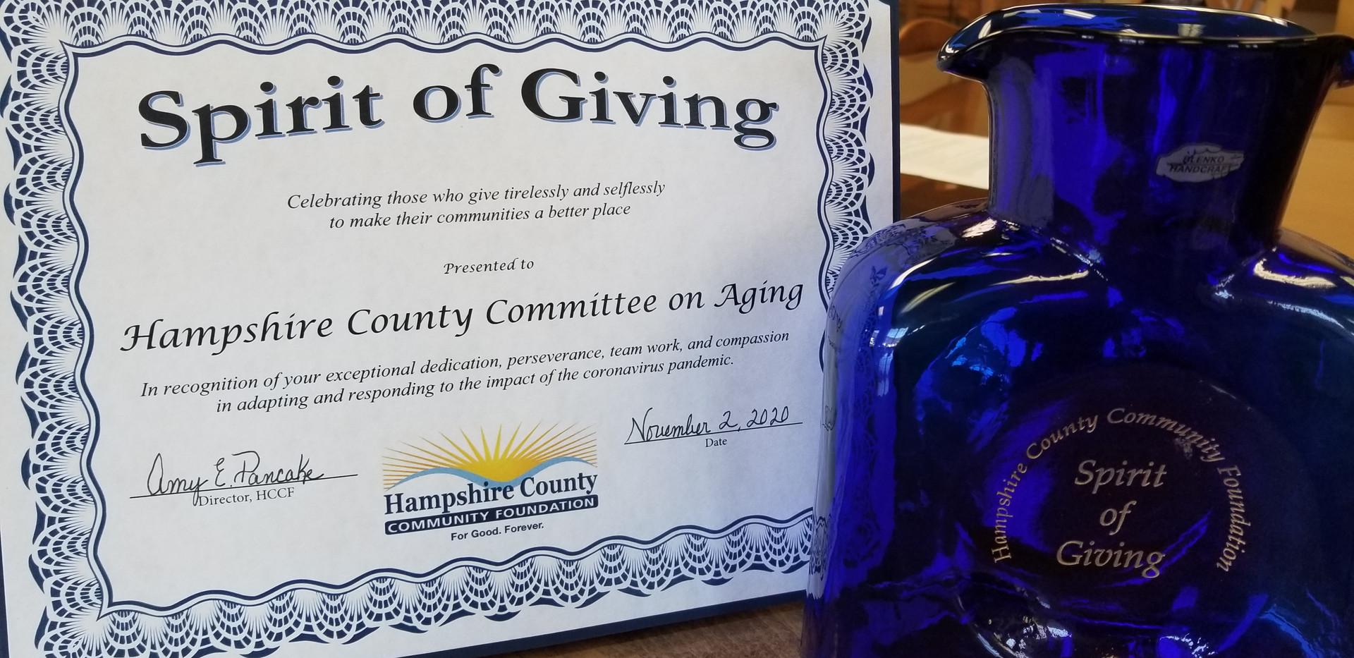 2020 Spirit of Giving Award
