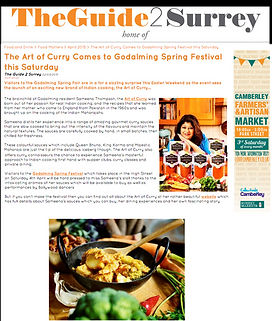 The Art of Curry comes to Godalming Spring Festival this Saturday 2 April 2015