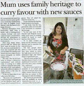 Surrey Advertiser Business News Extra  Mum uses family heritage to curry favour with new sauces April 2015, Page 5