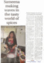 The Surrey Advertiser  Sameena making waves in the tasty world of spices 1 May 2015, Page 16