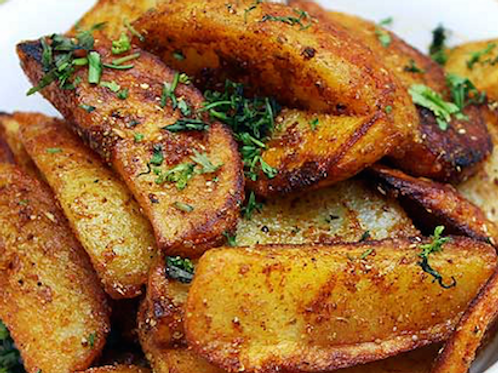 SPICY INDIAN ALOO WEDGES STARTER
