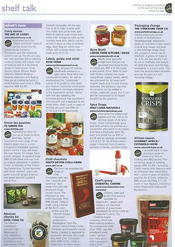 Fine Food Digest Shelf Talk  Curry Sauces - The Art of Curry May 2015,  Vol 16 Issue 4