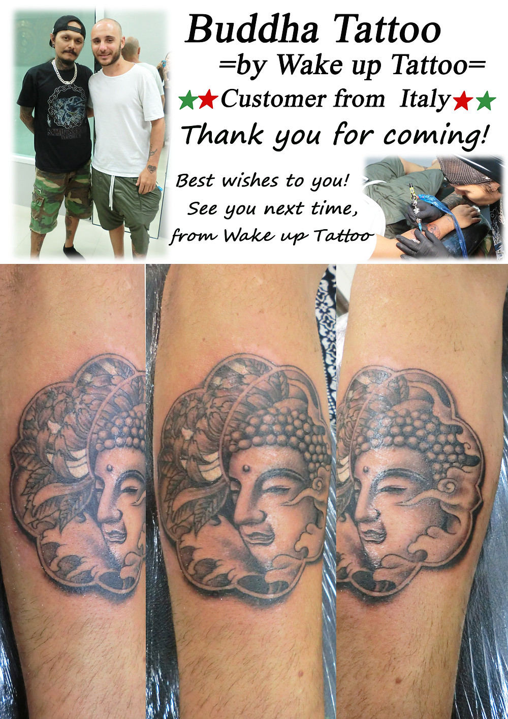 My first work for you by Wake up Tattoo Phuket