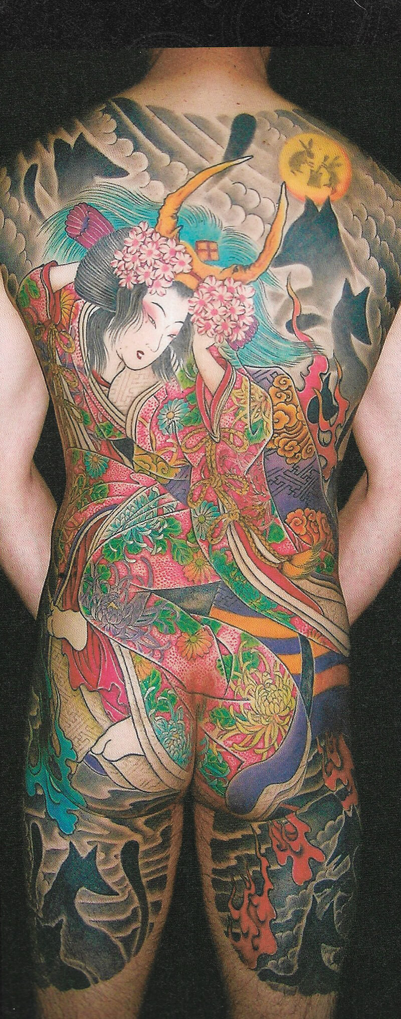 Japanese full back tattoo by Wake up Tattoo Phuket