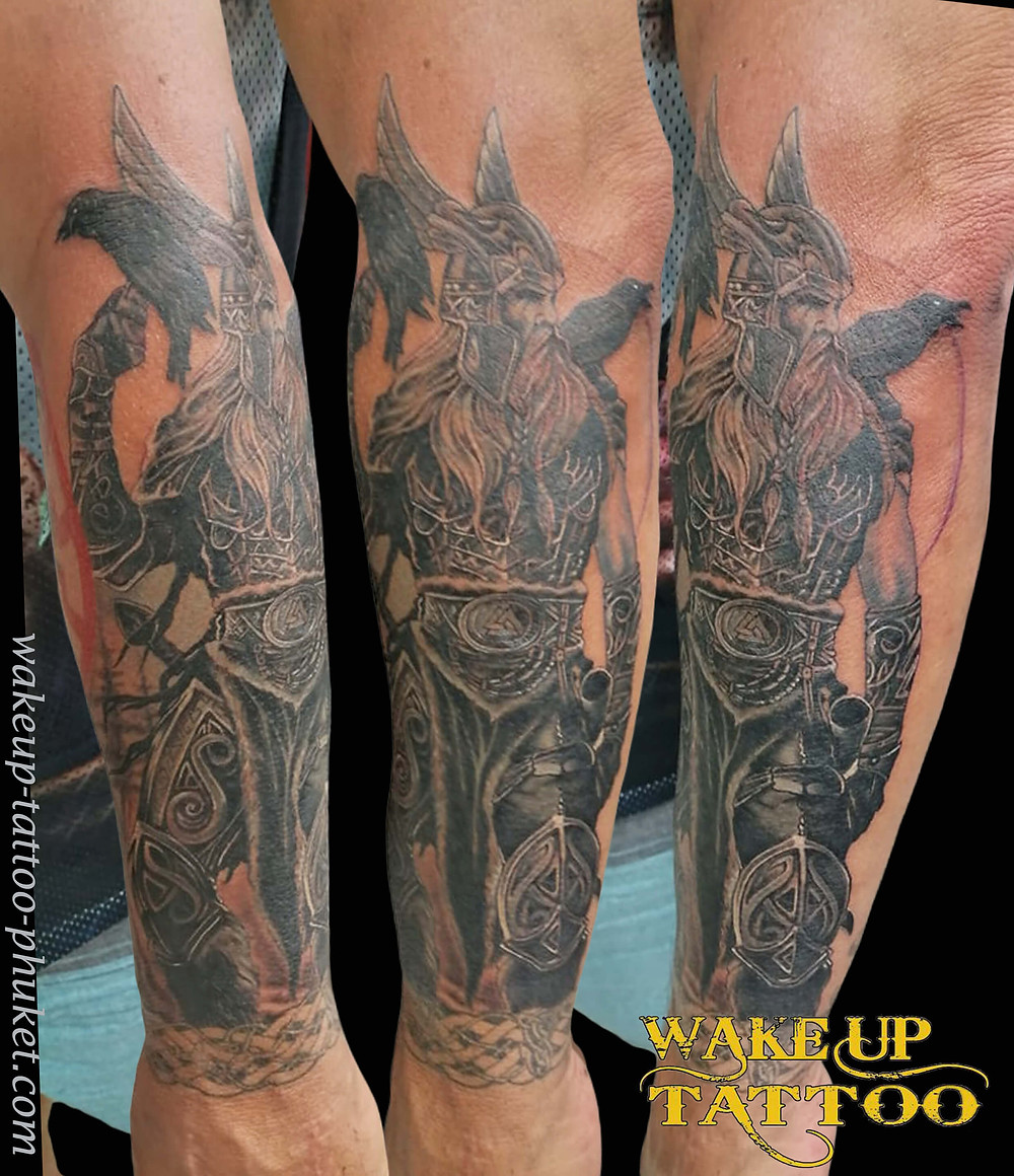 Realistic Tattoo on the arm by Wake up Tattoo Phuket