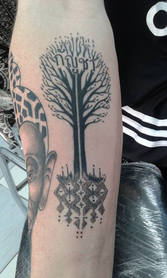 tree tattoo by Wake up Tattoo Phuket at Patong Beach Thailand