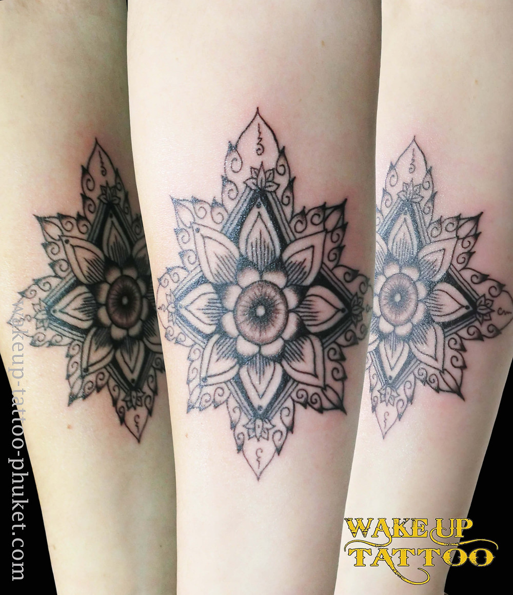 Mandala Arm Tattoo by Wake up Tattoo Phuket