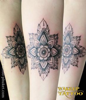 Mandala Arm Tattoo by Wake up Tattoo Phuket