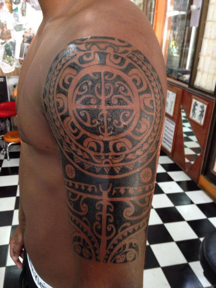 maori tattoo by Wake up Tattoo Phuket at Patong Beach Thailand