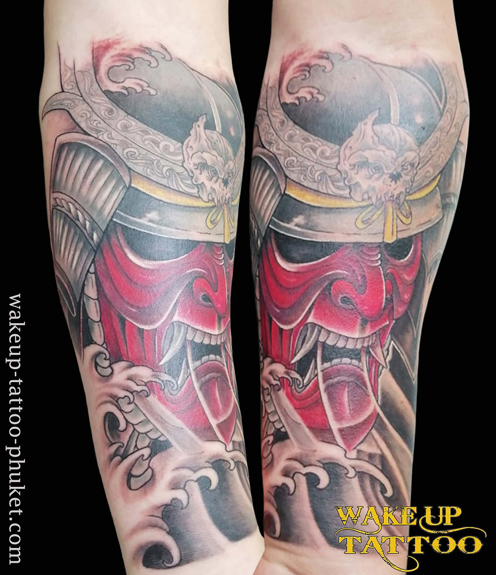 Japanese Samurai tattoo by Wake up Tattoo Phuket