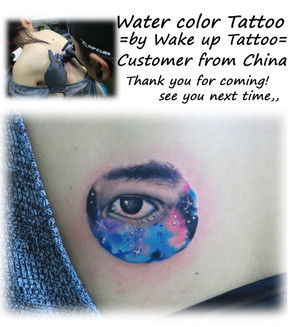 Water color Tattoo by Wake up Tattoo Phuket