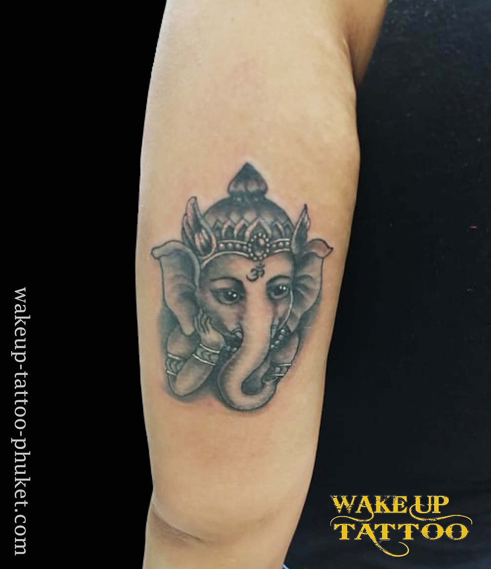 Ganesha small tattoo by Wake up Tattoo Phuket