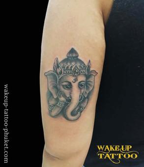 Ganesha Tattoo by Wake up Tattoo Phuket