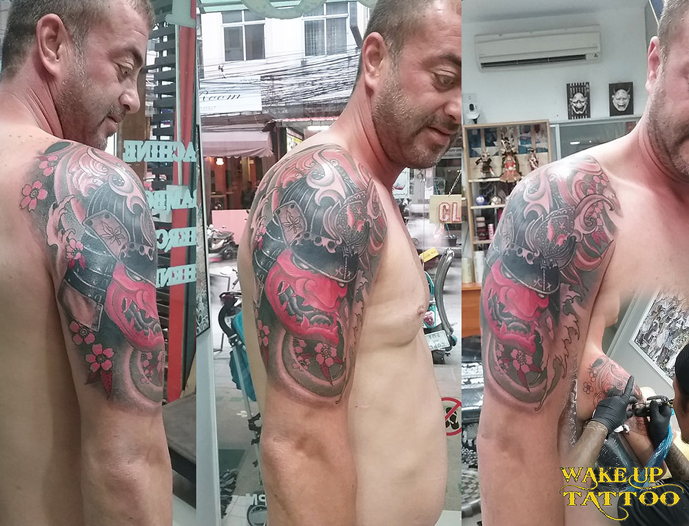 samurai tattoo by Wake up Tattoo in Patong